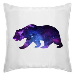 """Подушка """"Space animals (двухсторонняя печать)"""" - space, bear, медведь, космос, астрономия"""