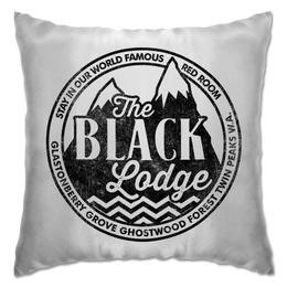 "Подушка ""Чёрный Вигвам. Твин Пикс"" - сериалы, twin peaks, твин пикс, чёрный вигвам, black lodge"