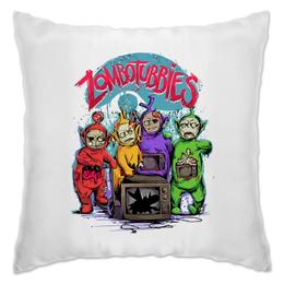"""Подушка """"Зомбопузики"""" - зомби, телевизор, zombie, телепузики"""