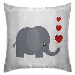 """Подушка """"Милый слоник"""" - животное, слон, сердечки, слоник"""