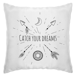 """Подушка """"catch your dreams"""" - арт, ловец снов, индейский символ, стиль бохо"""