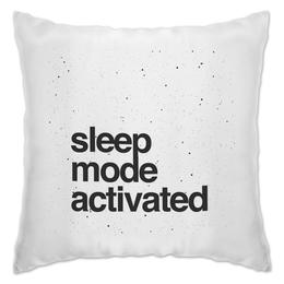 """Подушка """"Sleep mode by Brainy"""" - sleep, mode, brainy, brainystore"""