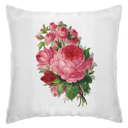"""Подушка """"Flowers"""" - цветы, девушке, розы"""