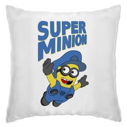 "Подушка ""Super Minion"" - mario, миньоны, minion, марио, банана"
