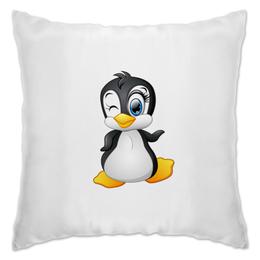 """Подушка """"Пингвин"""" - пингвины, животные, птицы, смешные, мульт"""