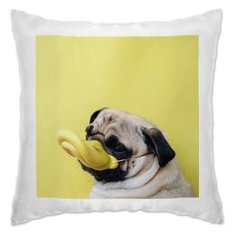 "Подушка ""Уточка"" - pug, duck, мопс, уточка"