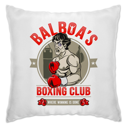 "Подушка ""Balboa's Boxing Club"" - бокс, боксер, сталлоне, чемпион, рокки"