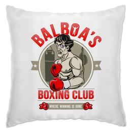 """Подушка """"Balboa's Boxing Club"""" - бокс, боксер, сталлоне, чемпион, рокки"""