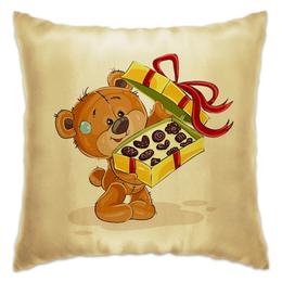 """Подушка """"Мишка Тэдди"""" - конфеты, подарок, медвежонок, игрушка, мишка тэдди"""