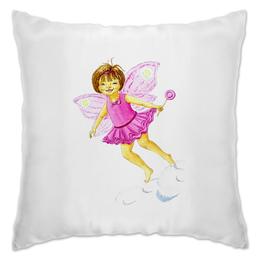 """Подушка """"Полет розовой феечки"""" - для девочек, сказки, феи"""