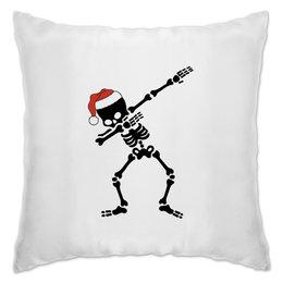 "Подушка ""Скелет"" - череп, новый год, скелет, кости, шапка"