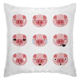 """Подушка """"Свинья"""" - 2019, свин, поросёнок, новый год, год свиньи"""