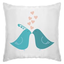 """Подушка """"Голубки"""" - любовь, пары, птицы"""