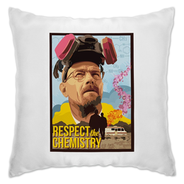 "Подушка ""Respect the Chemistry"" - сериал, во все тяжкие, danger, breaking bad, гайзенберг"