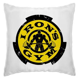 """Подушка """"Irons Gym"""" - спорт, атлет, железный человек, iron man, сила"""