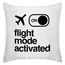 "Подушка ""Flight Mode by Brainy"" - mode, flight, brainy, brainystore"