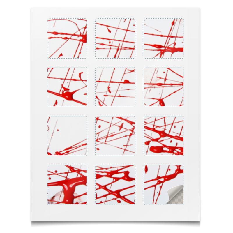 Наклейки квадратные Printio Наклейки краска