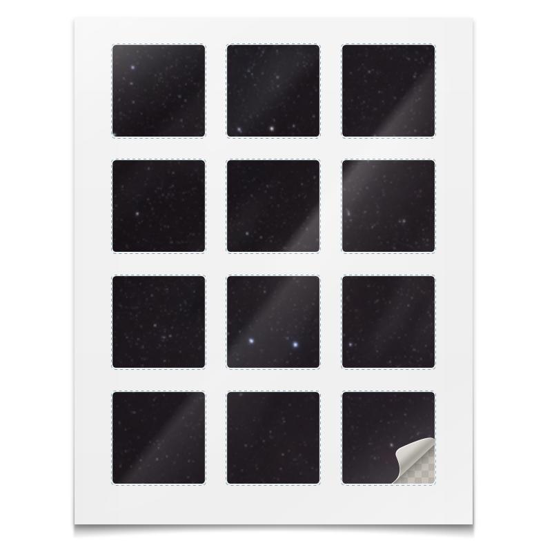 Наклейки квадратные Printio Наклейки космос