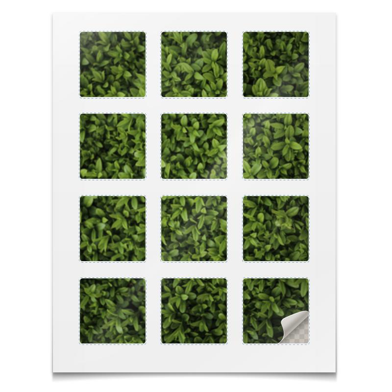 Наклейки квадратные Printio Наклейки трава