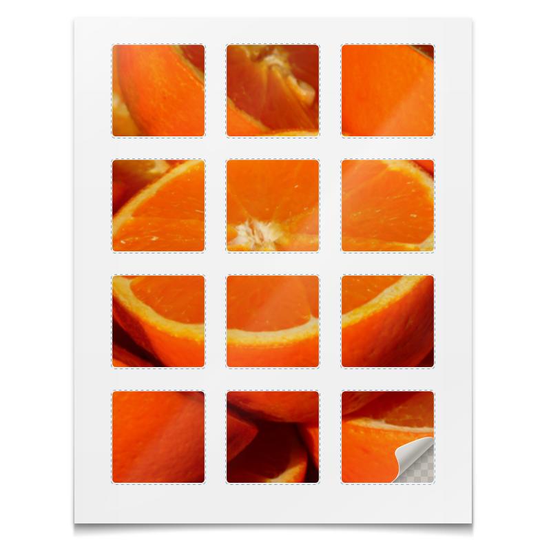 Наклейки квадратные Printio Наклейки апельсины