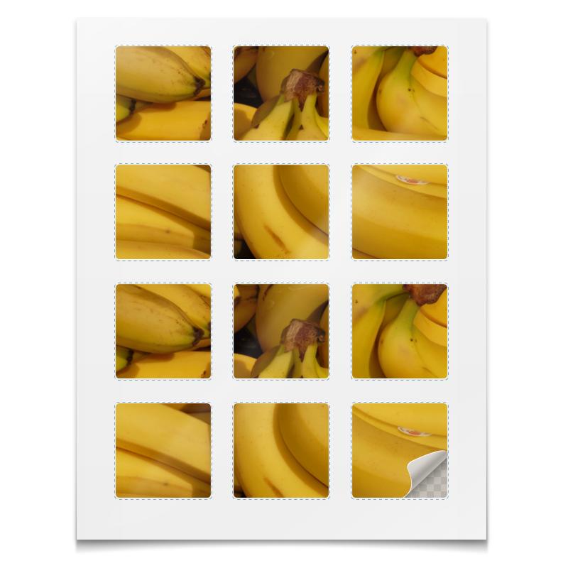 Наклейки квадратные Printio Наклейки бананы