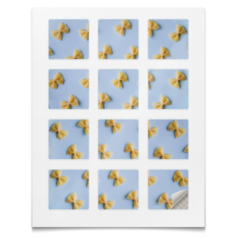 Наклейки квадратные Printio Наклейки макароны