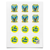 """Наклейки квадратные """"Партия ЛДПР """" - партия, россия, жириновский, выборы, лдпр"""