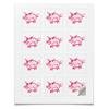 """Наклейки квадратные """"Розовый поросенок"""" - арт, счастье, малыш, свин, розовый поросенок"""