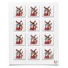 """Наклейки квадратные """"Дед мороз с оленем"""" - праздник, новый год, радость, дед мороз, олень"""