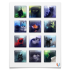 """Наклейки квадратные """"Cats Collection"""" - котики, арт, черный кот"""