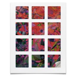 """Наклейки квадратные 5x5см """"Наклейки Стекло"""" - радуга, стекло, абстракция, текстура, блёстки"""