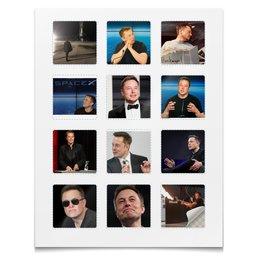 """Наклейки квадратные 5x5см """"Илон Маск"""" - илон маск"""