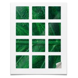 """Наклейки квадратные 5x5см """"Наклейки Листья"""" - растения"""