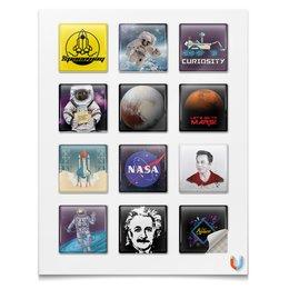 """Наклейки квадратные """"Твоя космическая команда"""" - космос, вселенная, наука, астрономия, the spaceway"""