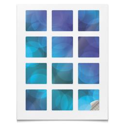 """Наклейки квадратные 5x5см """"Наклейки Блёстки"""" - космос, абстракция, текстура, фейрверк, блёстки"""