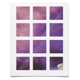"""Наклейки квадратные 5x5см """"Наклейки Космос"""" - космос, небо, абстракция, вселенная, звёзды"""
