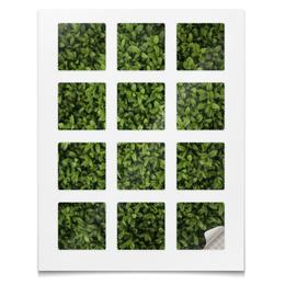"""Наклейки квадратные """"Наклейки Трава"""" - абстракция, растения, трава, цветы, текстура"""