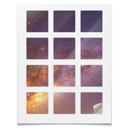 """Наклейки квадратные 5x5см """"Наклейки Космос"""" - планета, космос, абстракция, звёзды, текстура"""
