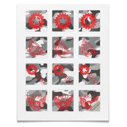"""Наклейки квадратные """"Наклейки RED'S Logo"""" - red, механика, двигатель, байкер, мотоцикл"""