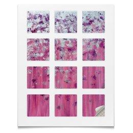 """Наклейки квадратные 5x5см """"Розовое настроение"""" - любовь, розовый, нежность, серебро, женское"""