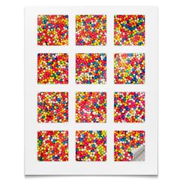 """Наклейки квадратные """"Наклейки Цветная посыпка"""" - праздник"""