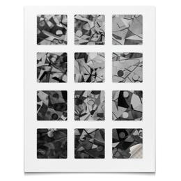 """Наклейки квадратные 5x5см """"Наклейки Стекло"""" - стекло, черно-белый, абстракция, геометрия, текстура"""