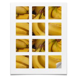 """Наклейки квадратные """"Наклейки Бананы"""" - растения"""