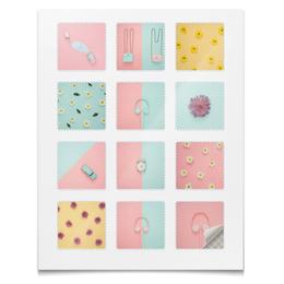 """Наклейки квадратные """"Наклейки Стильная девчонка"""" - абстракция, цветы, стиль, девушка, девичник"""