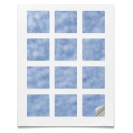 "Наклейки квадратные 5x5см ""Наклейки Небеса"" - космос, небо, облака, абстракция, текстура"