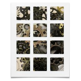 """Наклейки квадратные """"Наклейки Шестерни"""" - абстракция, текстура, шестерёнки, механика, мотоцикл"""