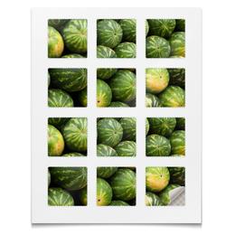 """Наклейки квадратные """"Наклейки Арбузы"""" - растения"""