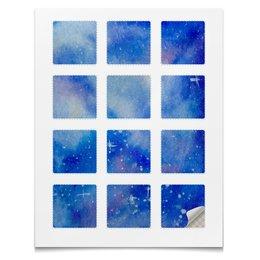 """Наклейки квадратные 5x5см """"космос"""" - космос, галактика, наклейки, вселенн"""