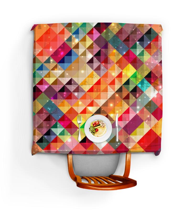 Скатерть квадратная Printio Цветные треугольники