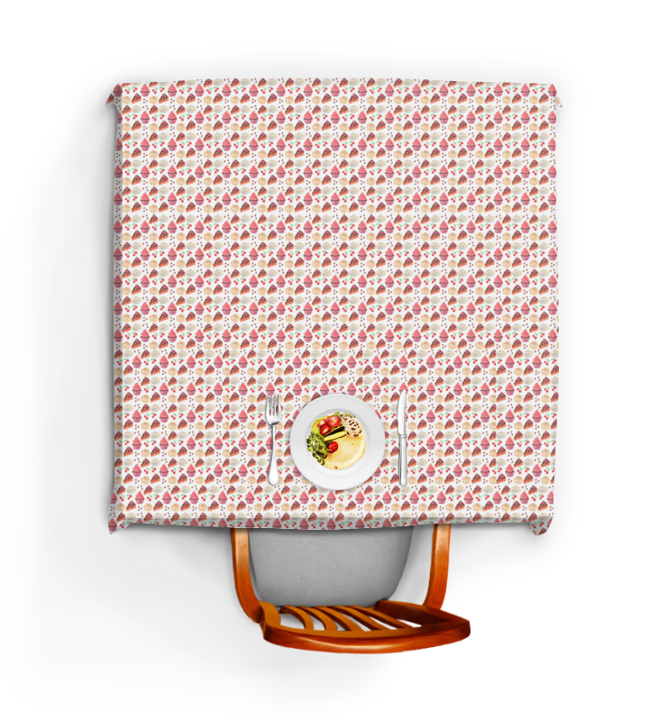 Скатерть квадратная Printio Сладкий стол олег ольхов сладости на вашем столе кексы варенья пастилы